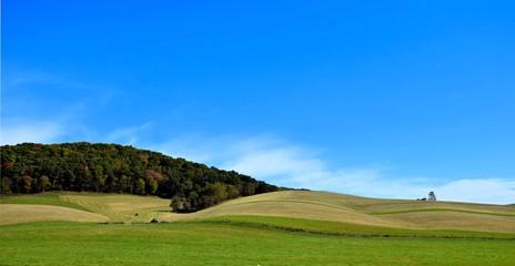 Rolling Hills, Blue Sky
