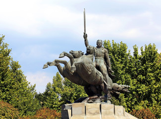 Monument to General Andranik Ozanyan in Yerevan