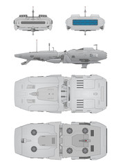 Spaceship positions