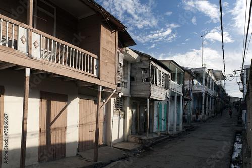 canvas print picture Traditionelle Holzhäuser, Jacmel, Haiti