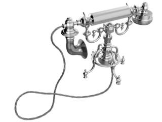 Retro telephone. 3D isolated