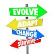 Evolve Adapt Change Survive Arrow Signs Evolution Adaptation Bus