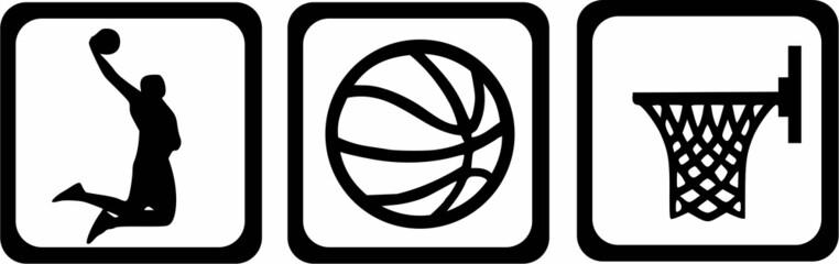 Basketball Icons Player Ball Basket