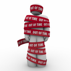 Out of Time Man Wraped Tape Past Deadline Hostage Prisoner