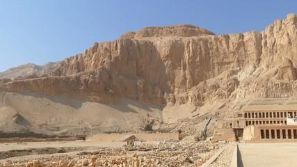 Famous ancient temple of Hatshepsut in Luxor Egypt 4k