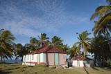 Traditionelle Häuser, Kuhinsel (Île à Vache), Haiti