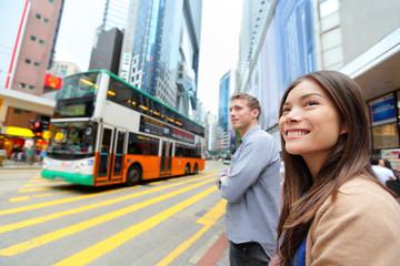 Hong Kong Causeway Bay people wallking