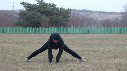упражнение для растяжки