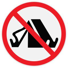 No, camping, sign