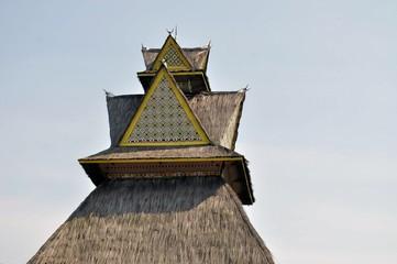 Traditional house on Riau, Sumatra, Indonesia