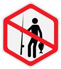 No, fishing, sign, hexagon