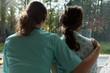 Nurse cares for sad patient