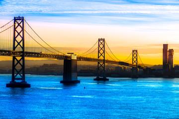 San Francisco Bay bridge, California, USA.