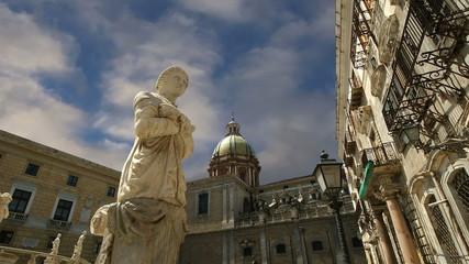 Fontana Pretoria in Palermo, Sicily is also called Fountain of s
