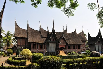 Traditional house on West Sumatra, Indonesia