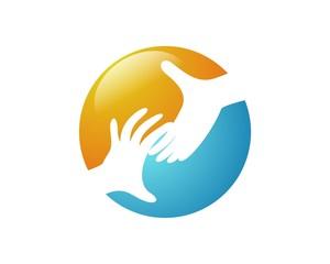 hand logo template v.4