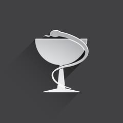 caduceus medical symbol icon.
