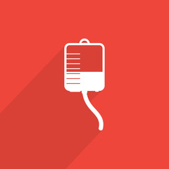 medical dropper flat icon.