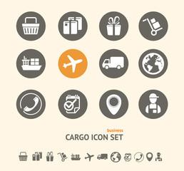 Vector Shipping, Logistics and cargo icon set