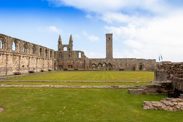 Cathedral ruins in Saint Andrews, Scotland , UK.