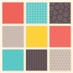 Spring and easter holiday seamless pattern set
