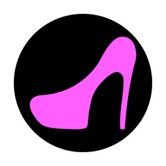 Icon shoes with heels, vector illustration.