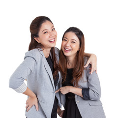 Portrait beautiful businesswomen smiling