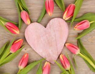 Tulpen mit Herz