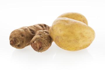 Potato and Jerusalem Artichokes