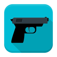 Gun app icon with long shadow