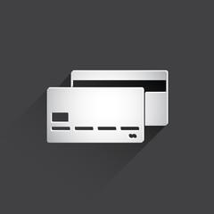 bank card web flat icon.