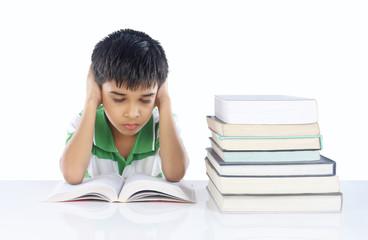 Depressed School boy
