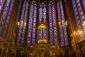 Interiors of the Sainte-Chapelle (Holy Chapel)