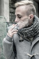 Fashion man smoking