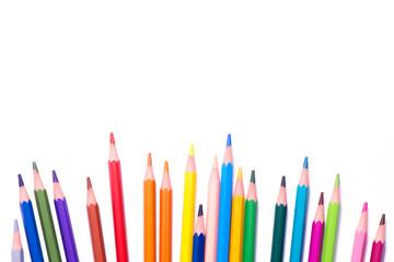 Crayons de couleurs multicolores