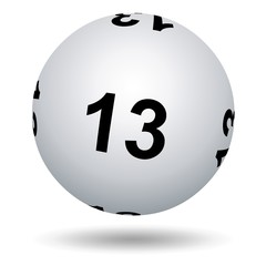 Loto. Boule numéro 13