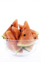Slice of Watermelon on white