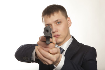 Businessman bodyguard