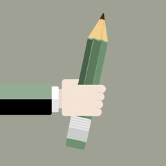 Pencil flat design vector illustration