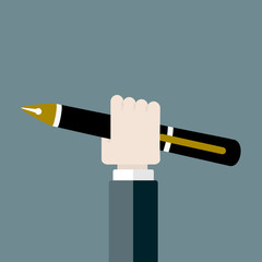 Pen flat design vector illustration