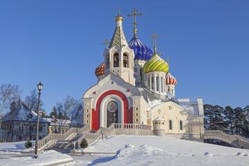Temple in Peredelkino in winter season