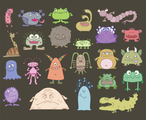 many different scary monsters
