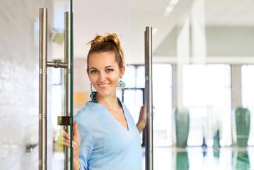 Portrait of a female professional spa employee
