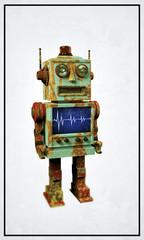 vintage robot toy