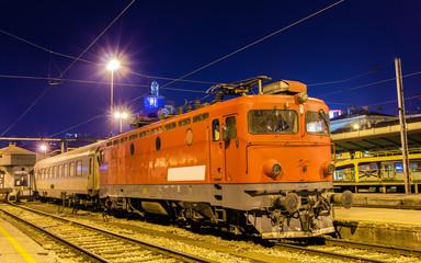Electric locomotive at Belgrade station - Serbia