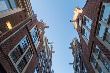 typische Hausfassaden in Amsterdam, Niederlande