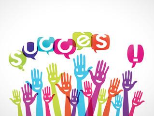 groupe mains souriantes : succès