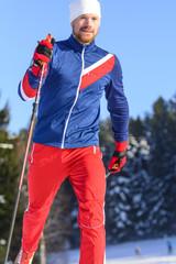 Sportler beim Langlauf