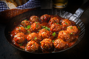 Spicy meatballs in a savory sauce