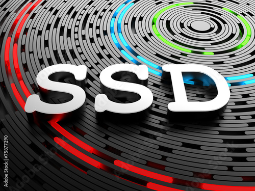 SSD - solid-state drive or solid-state disk - 75877290